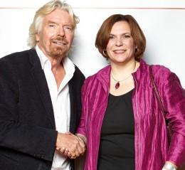 Sir Richard Branson & Speakerin Christine Hofmann