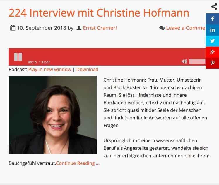Podcast: Ernst Crameri spricht mit Christine Hofmann
